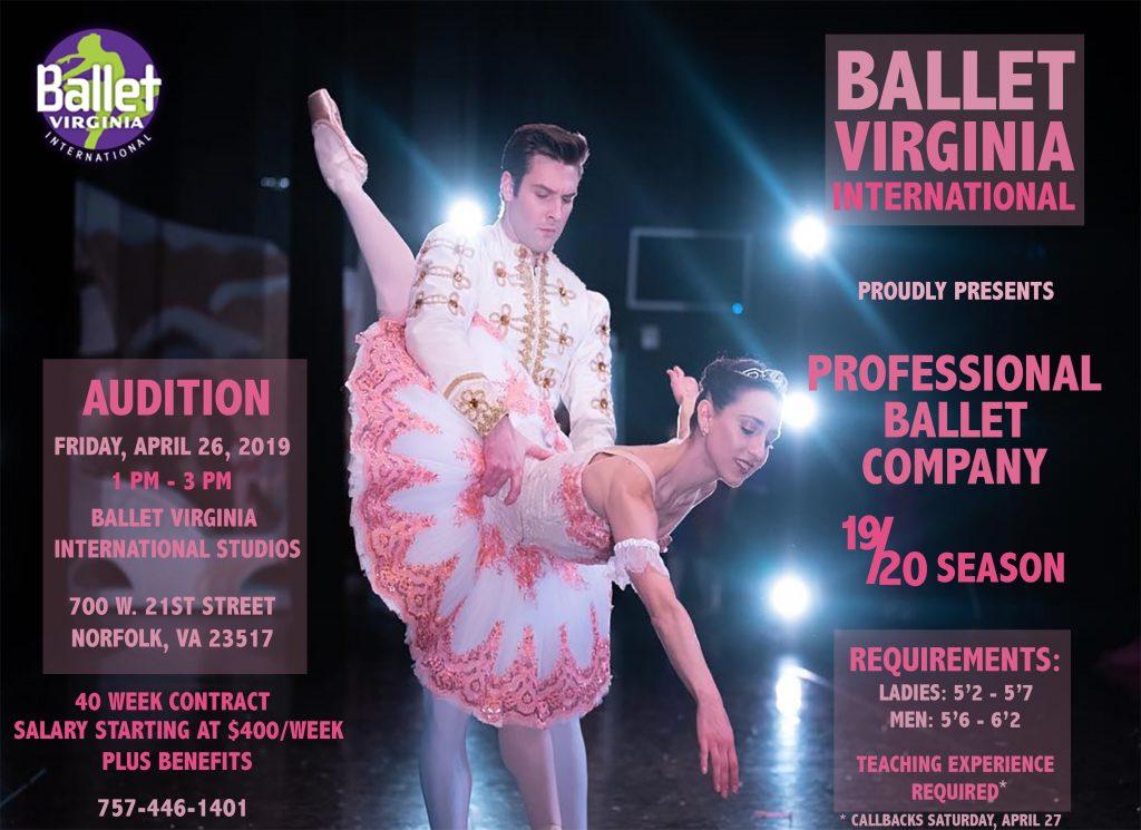 Job Openings Ballet Virginia International