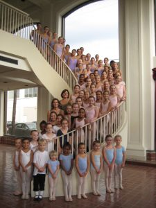 Ballet Virginia Academy our story dancers on stairs